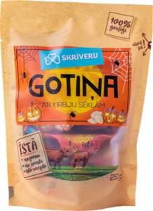 "Milk candy ""Skrīveru Gotiņa"" with pumpkin seeds"